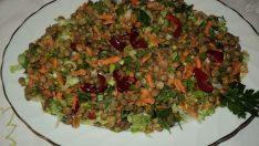 Tok Tutan Yeşil Mercimek Salatası Tarifi